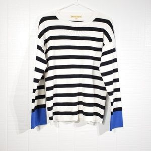 Striped Sweater   Wrist Color Block B49